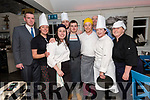 Chefs and restaurant staff Michael Boyle, Ciara Gromell, Carol O'Connor, Frank Rehor, Nikolai O'Connor, Shane Houlihan, Gavin O'Grady (owner), Caroline Daneaher and Carina Scanlon, from the Boatyard Restaurant in Dingle,swapping jobs in aid of Camphill Community.