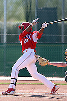 Eric Valdez #24 of the Dominican Prospect League All-stars plays against the Langley (British Columbia) Blaze in an exhibition game at Surprise Recreational Complex, the Texas Rangers minor league complex, on March 22, 2011 in Surprise, Arizona..Photo by:  Bill Mitchell/Four Seam Images