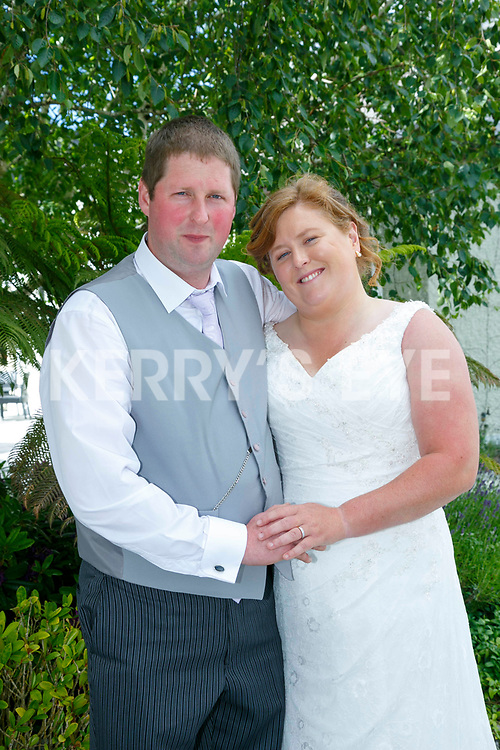 Linda Gleeson and Brendan Daly were married at  Church of St Gertrude Firies  by  Fr. Tadhg Ó Dochartaigh on Saturday with a reception at Ballygarry House Hotel