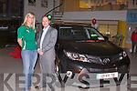 UNVEILING: Irish and Tralee rugby club star Siobhan Fleming with Tim Kelliher unveiling the all new generation Toyota RAVA 4 at Kelliher garage, Tralee.