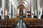 Interior of a church in Haasdonk, Belgium.