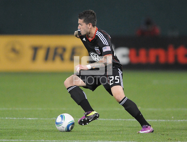 DC United midfielder Santino Quaranta (25)    DC United tied The Colorado Rapids 1-1, at RFK Stadium, Saturday  May 14, 2011.