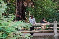SAO PAULO, SP, 11.11.2014 - CORPO ENCONTRADO NO LAGO DO PARQUE IBIRAPUERA - Vista do local onde corpo de um homem foi encontrado por agentes da Guarda Civil Metropolitana (CGM) dentro do lago do Parque do Ibirapuera, na Vila Mariana, Zona Sul de São Paulo na tarde desta terça-feira (11). (Foto: Kevin David / Brazil Photo Press).
