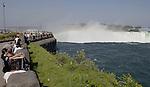 Niagara Falls, Ontario, Canada - 01 August 2006---The Niagara River falling horseshoe-wise / Horseshoe Falls---nature, tourism---Photo: © HorstWagner.eu