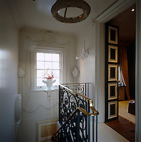 The staircase ends at an intriguing room at the top of the house
