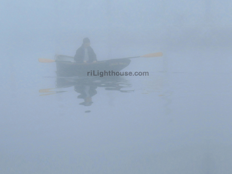 A man in a rowboat appeared one foggy morning in Wickford