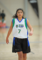 Waitakere West's Awatea Rikirangi-Thomas in action during the National Under-15 Basketball Championship at the ASB Sports Centre, Kilbirnie, Wellington, New Zealand on Thursday, 25 July 2013. Photo: Dave Lintott / lintottphoto.co.nz