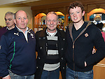 Ciaran Cousins, Adrian Conlon and Rory Cousins at St Mary's GFC awards night in Ardee. Photo:Colin Bell/pressphotos.ie