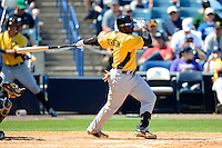 Pittsburgh Pirates second baseman Josh Harrison #2 during a Spring Training game against the New York Yankees at Legends Field on March 28, 2013 in Tampa, Florida.  (Mike Janes/Four Seam Images)