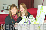 Natural products: Beauty therapists Caroline Lyons and Aisling O'Brien with a selection of natural beauty products that they use at the Beauty Room in  Listowel.