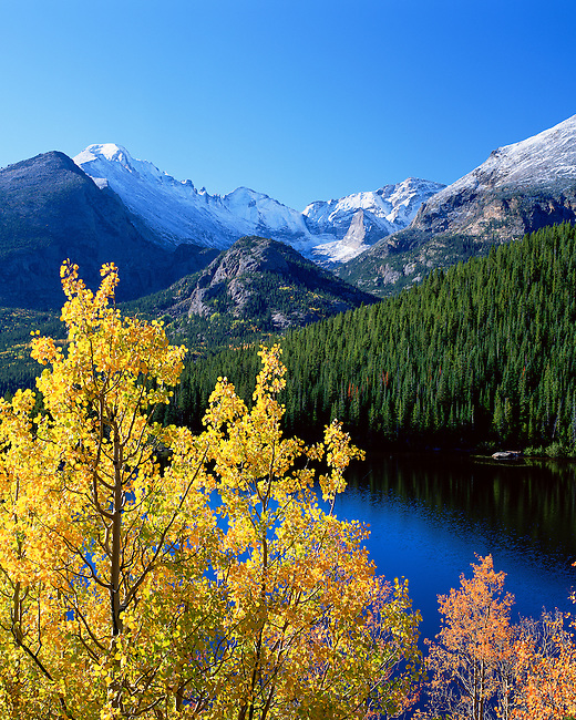 clear autumn morning above Bear Lake in Rocky Mountain National Park, Colorado, USA