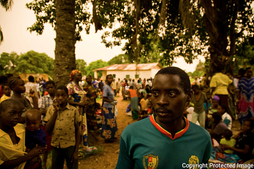 Henry lost two of his children in the scramble to safety after an LRA attack in Congo. He fled to Nzara South Sudan and waits desperately for news of his family.