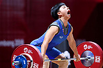 Khambao Surodchana (THA), <br /> AUGUST 21, 2018 - Weightlifting : <br /> Women's 53kg <br /> at JIExpo Kemayoran Hall A <br /> during the 2018 Jakarta Palembang Asian Games <br /> in Jakarta, Indonesia. <br /> (Photo by Naoki Nishimura/AFLO SPORT)