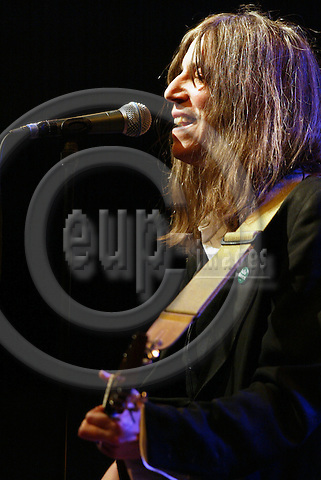 BRUSSELS - BELGIUM - 26 MARCH 2004-- Patti Smith during her concert Rock n Rimbaud in the Palais des Beaux Art, introducing her new album Trampin.-- PHOTO: JUHA ROININEN / EUP-IMAGES