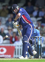 09/07/2002 - Tue.Sport - Cricket-  NatWest Series - Eng vs India Oval.England batting   Andrew Flintoff..