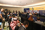 Top riders press conference for the Dubai Tour 2018 the Dubai Tour&rsquo;s 5th edition held at Dubai Frame in Zabeel Park, Dubai, United Arab Emirates. 5th February 2018.<br /> Picture: LaPresse/Massimo Paolone | Cyclefile<br /> <br /> <br /> All photos usage must carry mandatory copyright credit (&copy; Cyclefile | LaPresse/Massimo Paolone)