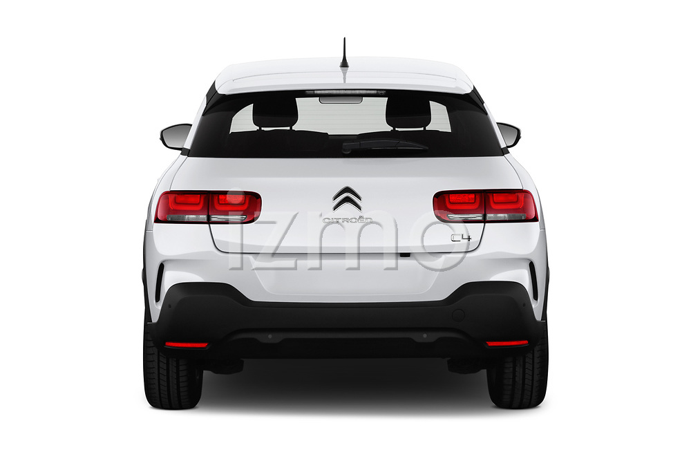 Straight rear view of a 2018 Citroen C4 Cactus Shine 5 Door SUV stock images
