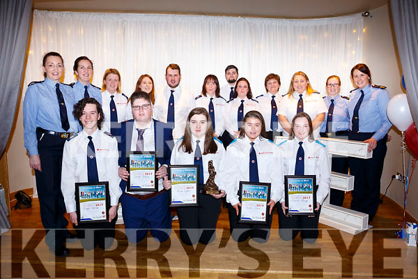 5 members of the Tralee Branch of the Red Cross received awards at the Garda Lee Strand Achievement awards at the annual ceremony in the Ballyroe Heights Hotel on Friday night last. <br /> Seated l to r, Hugo Wells, David Godfrey, Ciara Lynch, Rachel Dunne and Leanne Savage.<br /> Back l-r, Gardai Irene O&rsquo;Riordan and Trish Fitzpatrick, Majella Forde, Emma Molloy, James Smullen, Maureen Millward, Trica Nolan, Billy Donavan, Karen Donavan, Lynda Murphy, Garda Leanne McCarthy and Cecilla Scranton.