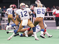 John Hufnagel Winnipeg Blue Bombers quarterback. Copyright photograph Scott Grant