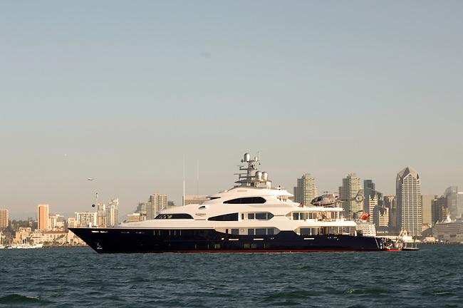 Attessa Mega Yacht in San Diego Bay