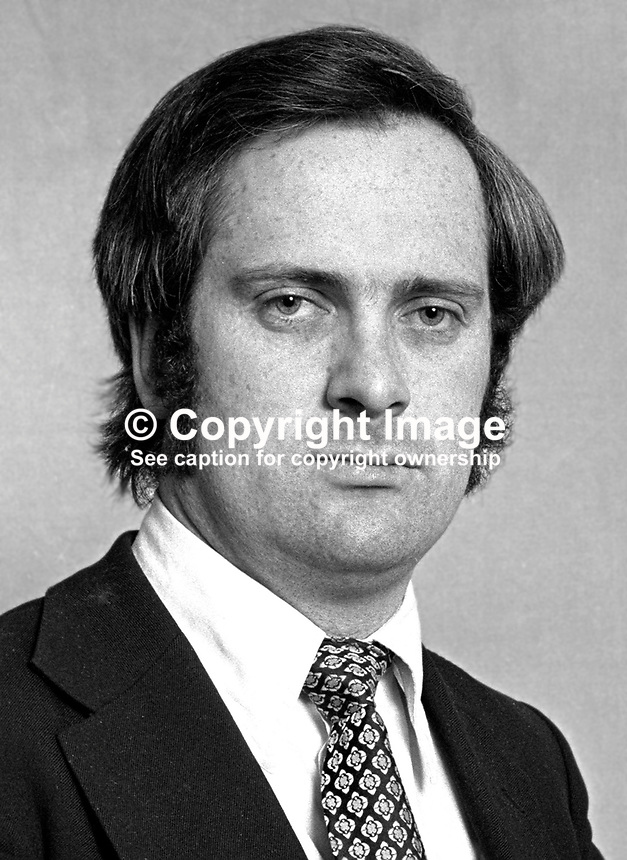 John Bruton, TD, Fine Gael, Rep of Ireland, Parliamentary Secretary to the Minister for Education & Industry & Commerce, March 1975, 197503000191c..Copyright Image from Victor Patterson, 54 Dorchester Park, Belfast, UK, BT9 6RJ..Tel: +44 28 9066 1296.Mob: +44 7802 353836.Voicemail +44 20 8816 7153.Skype: victorpattersonbelfast.Email: victorpatterson@me.com.Email: victorpatterson@ireland.com (back-up)..IMPORTANT: If you wish to use this image or any other of my images please go to www.victorpatterson.com and click on the Terms & Conditions. Then contact me by email or phone with the reference number(s) of the image(s) concerned.