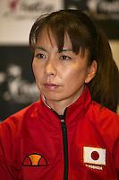 The Netherlands, Den Bosch, 16.04.2014. Fed Cup Netherlands-Japan, Press-conference Japanese team,  captain Yuka KANEKO, <br /> Photo:Tennisimages/Henk Koster