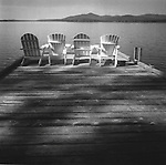 Adironadack Chairs on the dock. Mooshead Lake, ME. 1999