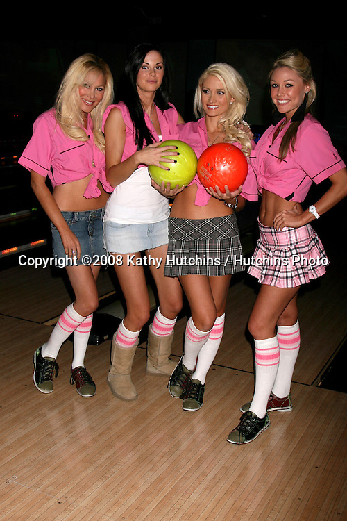 "Holly Madison at the ""Bowling for Boobies"" event at Lucky Strike Bowling Lanes at Hollywood & Highland, in Los Angeles, CA.October 13, 2008.©2008 Kathy Hutchins / Hutchins Photo...                . Holly Madison & Her friends on the ""Double D's"" Bowling Team at the ""Bowling for Boobies"" event at Lucky Strike Bowling Lanes at Hollywood & Highland, in Los Angeles, CA.October 13, 2008.©2008 Kathy Hutchins / Hutchins Photo...                ."