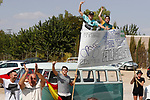 Alberto Contador (ESP) fans at the roadside during Stage 13 of the 2017 La Vuelta, running 198.4km from Coin to Tomares, Seville, Spain. 1st September 2017.<br />