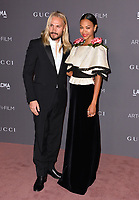 Zoe Saldana &amp;  Ezio Perego at the 2017 LACMA Art+Film Gala at the Los Angeles County Museum of Art, Los Angeles, USA 04 Nov. 2017<br /> Picture: Paul Smith/Featureflash/SilverHub 0208 004 5359 sales@silverhubmedia.com