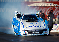 Jan 31, 2018; Chandler, AZ, USA; NHRA funny car driver Tommy Johnson Jr during Nitro Spring Training Testing at Wild Horse Pass Motorsports Park. Mandatory Credit: Mark J. Rebilas-USA TODAY Sports