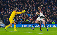 Brighton & Hove Albion's Matthew Ryan (left)  & Shane Duffy (centre) under pressure from Arsenal's Pierre-Emerick Aubameyang (right) <br /> <br /> Photographer David Horton/CameraSport<br /> <br /> The Premier League - Brighton and Hove Albion v Arsenal - Wednesday 26th December 2018 - The Amex Stadium - Brighton<br /> <br /> World Copyright © 2018 CameraSport. All rights reserved. 43 Linden Ave. Countesthorpe. Leicester. England. LE8 5PG - Tel: +44 (0) 116 277 4147 - admin@camerasport.com - www.camerasport.com