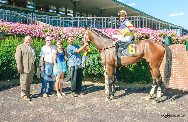 Sam's Melody winning at Delaware Park on 8/25/15