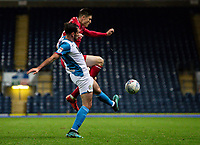 Blackburn Rovers' Greg Cunningham competing with Nottingham Forest's John Bostock (right) <br /> <br /> Photographer Andrew Kearns/CameraSport<br /> <br /> The EFL Sky Bet Championship - Blackburn Rovers v Nottingham Forest - Tuesday 1st October 2019  - Ewood Park - Blackburn<br /> <br /> World Copyright © 2019 CameraSport. All rights reserved. 43 Linden Ave. Countesthorpe. Leicester. England. LE8 5PG - Tel: +44 (0) 116 277 4147 - admin@camerasport.com - www.camerasport.com