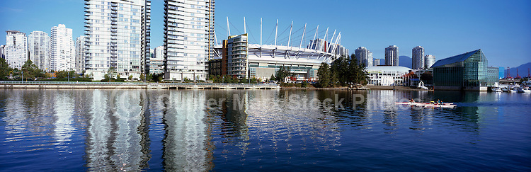 B.C. Place (new Roof) & Vancouver Skyline at False Creek in the City of Vancouver,.B.C. Canada.October 2011