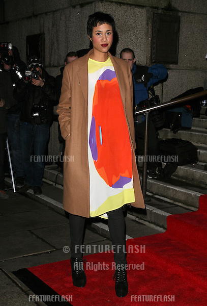 Zawe Ashton arriving for the Evening Standard Film Awards, County Hall, London. 06/02/2012 Picture by: Alexandra Glen / Featureflash