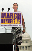 """Actress Ashley Judd speaks at the """"March for Women's Lives"""" in front of the United States Capitol in Washington, DC on April 25, 2004..Credit: Ron Sachs / CNP"""