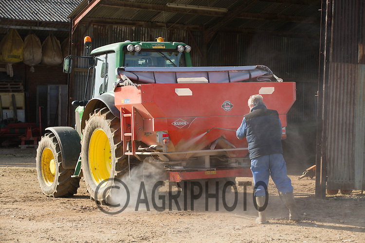 Pressure  washing a fertiliser spreader off<br /> Picture Tim Scrivener 07850 303986