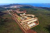 Base vie de l'usine Vale Nouvelle-Calédonie (exploitation de nickel et cobalt) à Goro, Sud de la Nouvelle-Calédonie