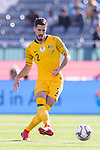 Milos Degenek of Australia in action during the AFC Asian Cup UAE 2019 Group B match between Palestine (PLE) and Australia (AUS) at Rashid Stadium on 11 January 2019 in Dubai, United Arab Emirates. Photo by Marcio Rodrigo Machado / Power Sport Images