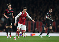Mesut Ozil of Arsenal in action during the UEFA Europa League round of 16 2nd leg match between Arsenal and AC Milan at the Emirates Stadium, London, England on 15 March 2018. Photo by Vince  Mignott / PRiME Media Images.