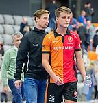 ROTTERDAM  - NK Zaalhockey,   halve finale heren Oranje Rood-SCHC (SCHC wint en plaatst zich voor de finale) . teleurstelling bij Rob Reckers en Bram Huijbregts (Oranje-Rood) .     COPYRIGHT KOEN SUYK