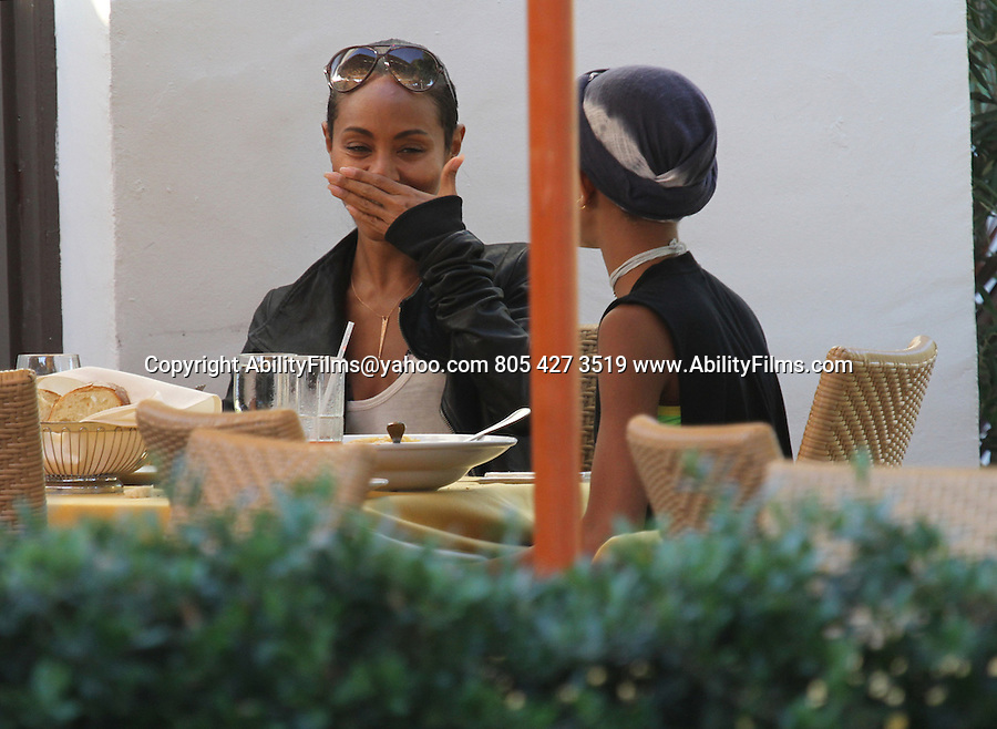 October 16th 2012 <br /> <br /> <br /> Willow Smith &amp; Jada Pinkett Smith eating lunch pizza , pasta, spaghetti , lasagna at<br />  Tra Di Noi restaurant in Malibu California <br /> Willow was talking &amp; texting on the phone &amp; they got up in the middle of lunch to look at &amp; play with a two legged dog <br /> <br /> <br /> AbilityFilms@yahoo.com<br /> 805 427 3519<br /> www.AbilityFilms.com