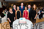 l-r Noreen Buckley, Patrick Buckley, Karen Buckley, Aidan Murphy, Aisling O'Keeffe, Dermot McCarthy and Helen O'Regan all from Banteer pictured at the Banteer Macra 50th Anniversary in the Heights Hotel, Killarney last Saturday night.
