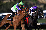 DEL MAR, CA - NOVEMBER 04: Good Magic #6, ridden by Jose Ortiz, pulls ahead during the Sentient Jet Breeders' Cup Juvenile race on Day 2 of the 2017 Breeders' Cup World Championships at Del Mar Racing Club on November 4, 2017 in Del Mar, California. (Photo by Jamey Price/Eclipse Sportswire/Breeders Cup)