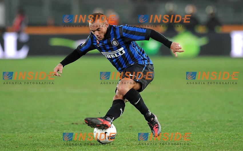 "Wesley SNEIJDER  (Inter).Verona 09/03/2012 Stadio ""Bentegodi"".Serie A 2011/2012.Football Calcio Chievo Verona Vs Inter.Foto Insidefoto Alessandro Sabattini."