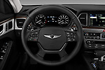 Car pictures of steering wheel view of a 2018 Genesis G80 RWD 4 Door Sedan