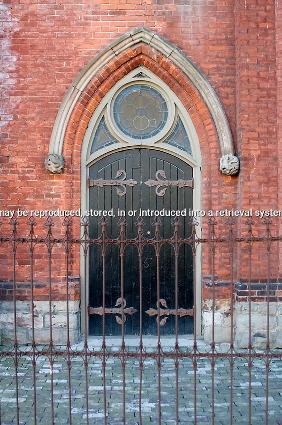 Door of the Berkeley Church Queen street Toronto Ontario Canada