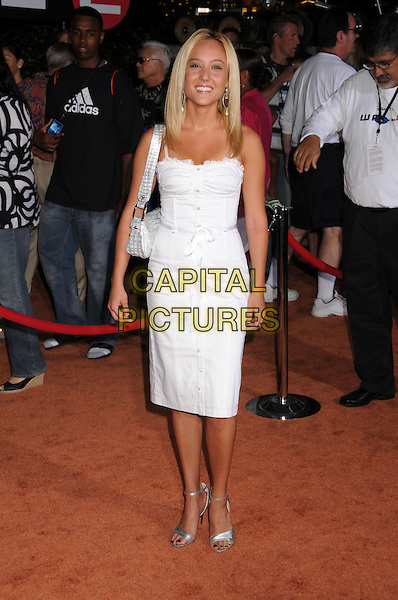 "LAUREN C. MAYHEW .""Wall-E"" World Premiere at the Greek Theatre, Los Angeles, California, USA..June 21st, 2008.full length white dress silver sandals  .CAP/ADM/BP.©Byron Purvis/AdMedia/Capital Pictures."