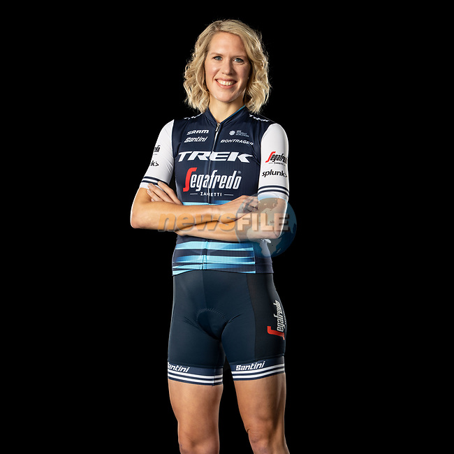The London Rouleur Classic event provided the venue for today's unveiling of the new Trek-Segafredo men's and women's kits for the upcoming 2020 racing season. Ellen van Dijk (NED) models the women's kit. Trek-Segafredo also announced that the partnership with Santini would continue for the next three years. 1st November 2019.<br /> Picture: Trek Factory Racing | Cyclefile<br /> <br /> <br /> All photos usage must carry mandatory copyright credit (© Cyclefile | Trek Factory Racing)
